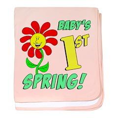 Babys First Spring baby blanket