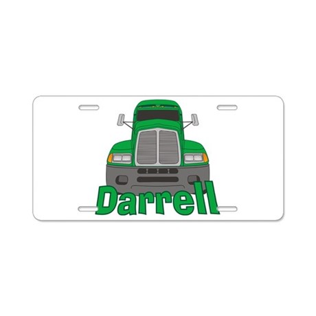Trucker Darrell Aluminum License Plate