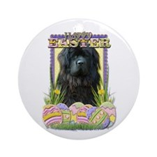 Easter Egg Cookies - Newfie Ornament (Round)