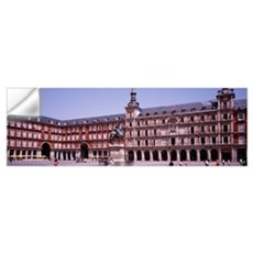 Tourists in a plaza, Plaza Mayor, Madrid, Spain Wall Decal
