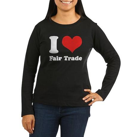 I Heart Fair Trade Women's Long Sleeve Dark T-Shir