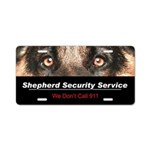 Shepherd Security Service Aluminum License Plate