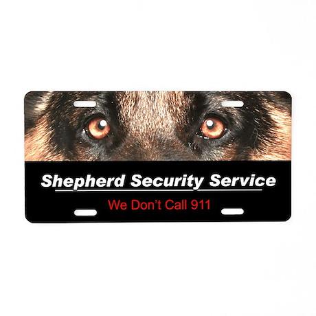 Shepherd Security Service Aluminum License Plate