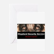 Shepherd Security Service Greeting Card