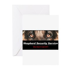Shepherd Security Service Greeting Cards (Pk of 10