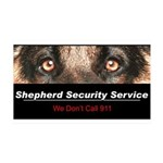 Shepherd Security Service 38.5 x 24.5 Wall Peel