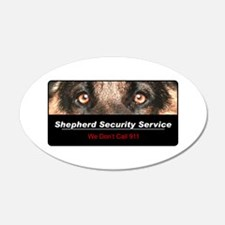 Shepherd Security Service 22x14 Oval Wall Peel