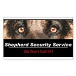 Shepherd Security Service Sticker (Rectangle 10 pk