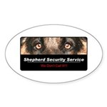 Shepherd Security Service Sticker (Oval 50 pk)