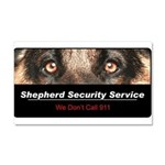 Shepherd Security Service Car Magnet 20 x 12