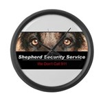 Shepherd Security Service Large Wall Clock