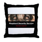 Shepherd Security Service Throw Pillow