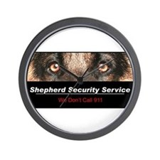 Shepherd Security Service Wall Clock
