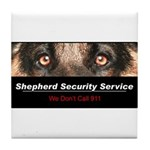 Shepherd Security Service Tile Coaster