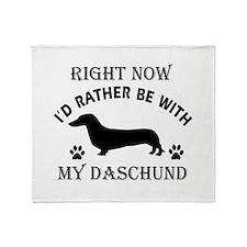 Daschund Dog Breed Designs Throw Blanket