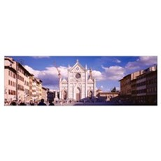Facade of a church, Church Of Santa Croce, Florenc Framed Print
