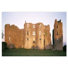 Lawn in front of a landscape, Roscommon Castle, Ro