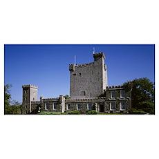 Low angle view of a castle, Knappogue Castle, Coun Poster