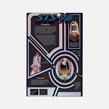 STS 98 Shuttle Mission Poster Rectangle Magnet