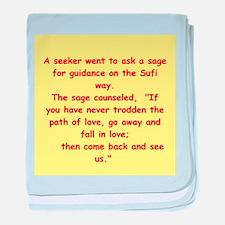 Sufi Sayings baby blanket