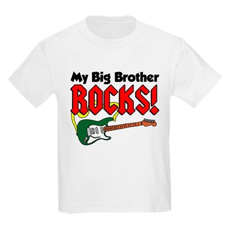 My Big Brother Rocks Kids Light T-Shirt