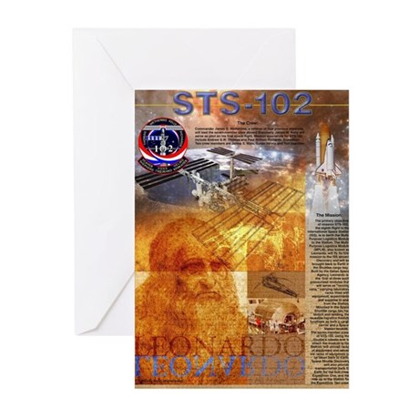 STS 102 Mission Poster Greeting Cards (Package of