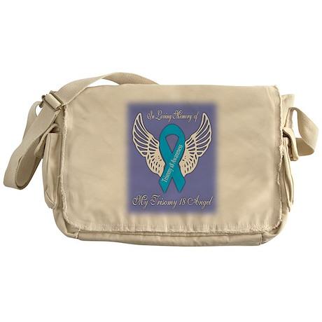 Trisomy 18 Angel Boy Messenger Bag