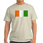 Ivory Coast Blank Flag Ash Grey T-Shirt