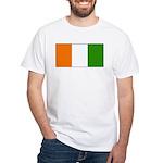 Ivory Coast Blank Flag White T-Shirt