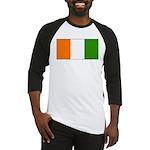 Ivory Coast Blank Flag Baseball Jersey