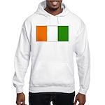 Ivory Coast Blank Flag Hooded Sweatshirt