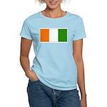 Ivory Coast Blank Flag Women's Pink T-Shirt