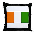 Ivory Coast Blank Flag Throw Pillow