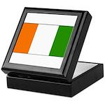 Ivory Coast Blank Flag Keepsake Box