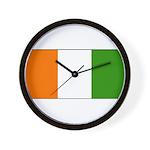 Ivory Coast Blank Flag Wall Clock