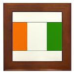 Ivory Coast Blank Flag Framed Tile