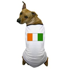 Ivory Coast Blank Flag Dog T-Shirt