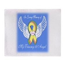Trisomy 13 Angel boy Throw Blanket