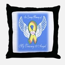 Trisomy 13 Angel boy Throw Pillow
