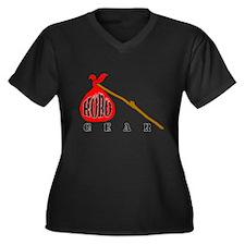 HoBo Gear Women's Plus Size V-Neck Dark T-Shirt