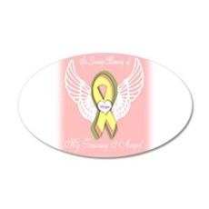 Trisomy 13 Angel girl 22x14 Oval Wall Peel