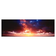 Sunset Yorkshire England Poster