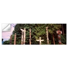 Canada, Vancouver, Stanley Park, totems Wall Decal