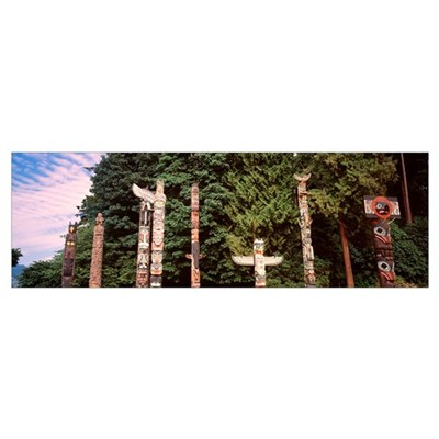 Canada, Vancouver, Stanley Park, totems Poster