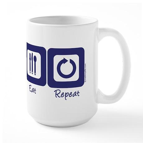 Sleep- Golf- Eat- Repeat Large Mug