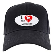I Love My Rottweiler Baseball Hat