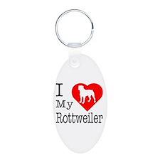 I Love My Rottweiler Keychains