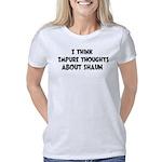 Happy Dubstep Face Organic Men's T-Shirt (dark)