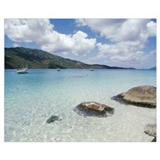 US Virgin Islands, St. Thomas, Magens Bay, Boats i Poster