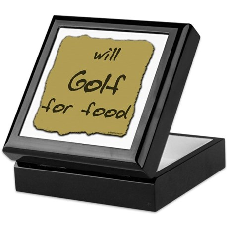 Will Golf for Food Keepsake Box